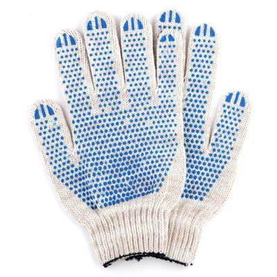 Хлопчатобумажные перчатки 5 НИТЕЙ с ПВХ покрытием