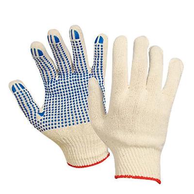 Хлопчатобумажные перчатки 6 НИТЕЙ с ПВХ покрытием