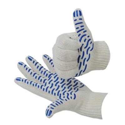 Хлопчатобумажные перчатки 4 НИТИ с ПВХ покрытием (волна)