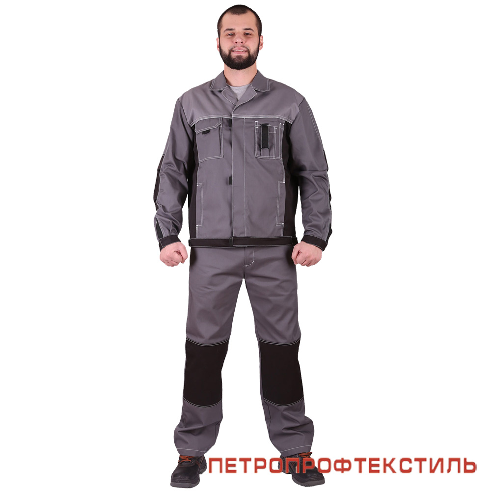 Костюм ГОРОД (серый, куртка+полукомбинезон)