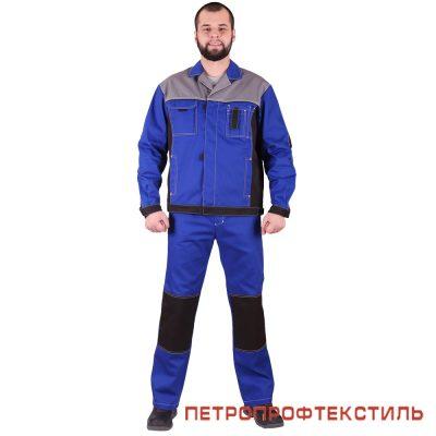 Костюм ГОРОД (васильковый, куртка+полукомбинезон)