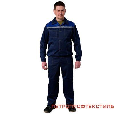 Костюм ЛЕГИОН (васильковый, куртка+полукомбинезон)