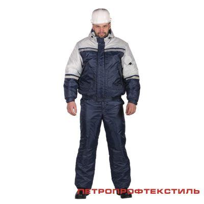 Костюм СТИМ цв. серый (утепленный, куртка+полукомбинезон)