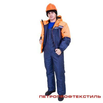 Костюм СТИМ цв. оранж. (утепленный, куртка+полукомбинезон)