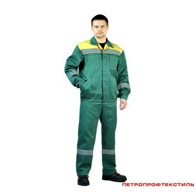 Костюм рабочий ЛЕГИОН зеленый